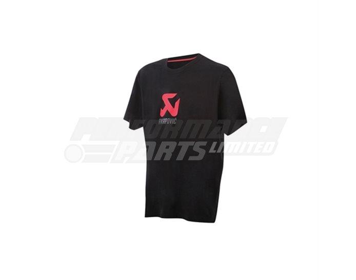 801206 - Akrapovic T-shirt Logo - Black -  size Small (select size below)