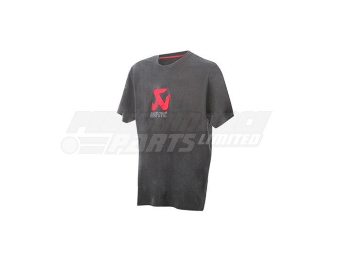 Akrapovic T-shirt Logo - Grey - size Small (select size below)