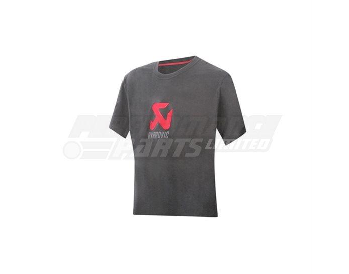 801225 - Akrapovic Women's Logo T-shirt - Grey - size Small (select size below)