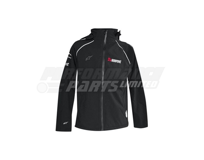 Akrapovic-Alpinestars SOFT SHELL jacket,  size Small (select size below)