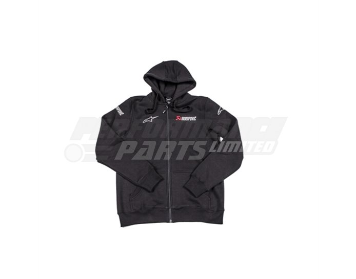 Akrapovic-Alpinestars HOODIE (Heavy Fabric), size XS (select size below)