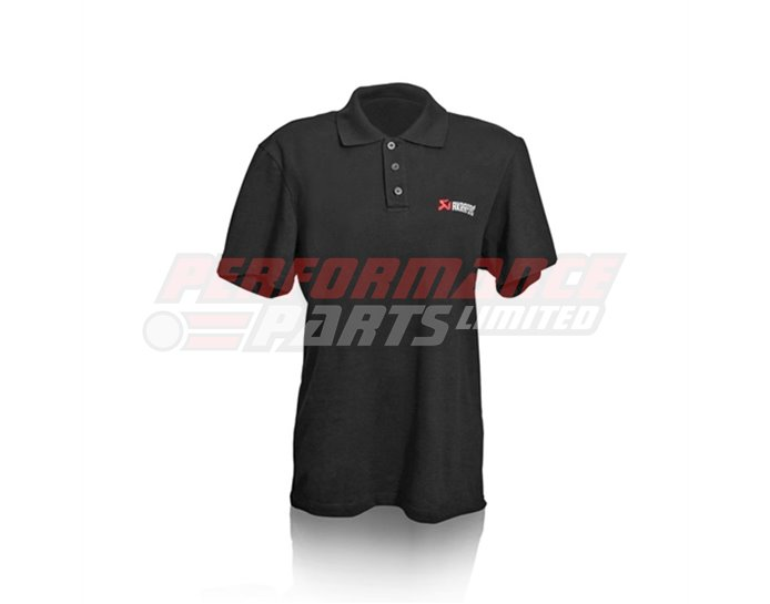 801634 - Akrapovic Emroidered Logo Polo shirt - Black - size Small (select size below)