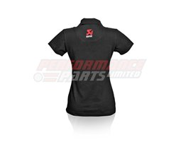 801650 - Akrapovic Women's Emroidered Logo Polo shirt - Black - size Small (select size below)