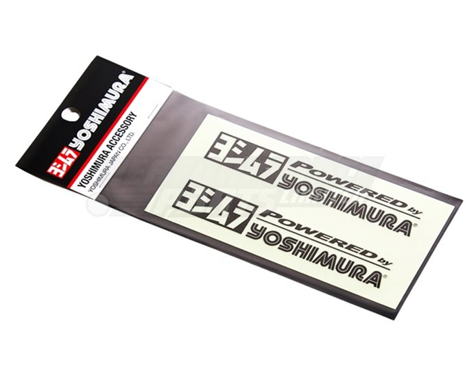 Yoshimura Powered by Stickers - Black (available in black, white or silver)