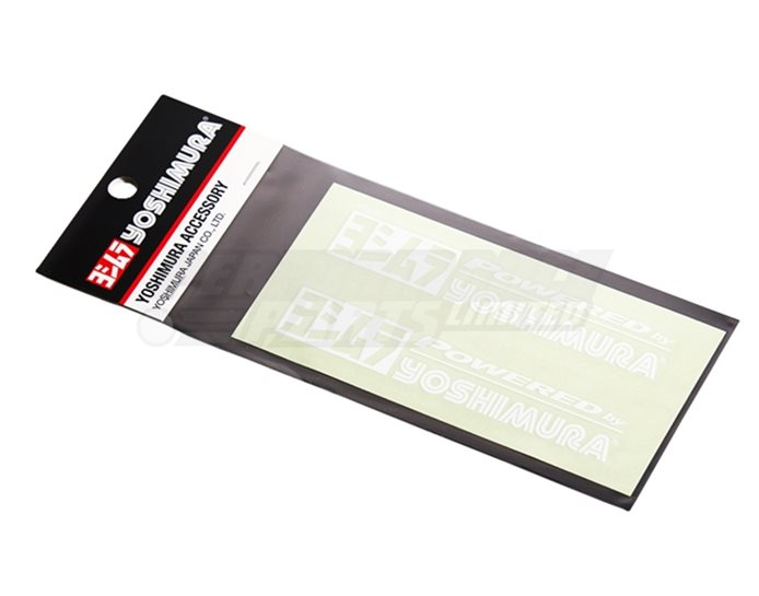 904-213-2200 - Yoshimura Powered by Stickers - White (available in black, white or silver)