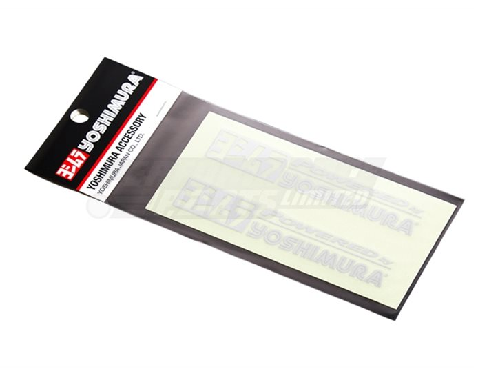 904-213-2300 - Yoshimura Powered by Stickers - Silver (available in black, white or silver)