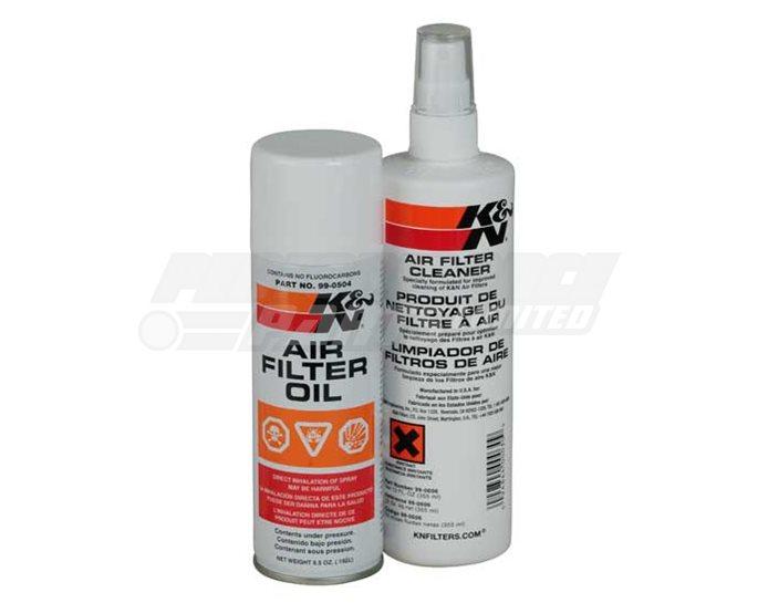 K&N Air Filter Care Kit - Aerosol (Cleaner & Oil)