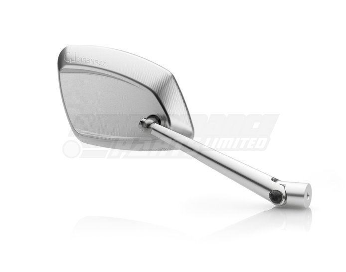 Rizoma 4D Mirror, Silver (other colours available) - Sold individually. Mirror adapter BS711B required.