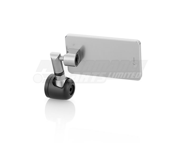 Rizoma Quantum Bar-End Mirror,  Silver (other colours available) - Sold individually. Mirror adapter LP200B or LPR200B required.