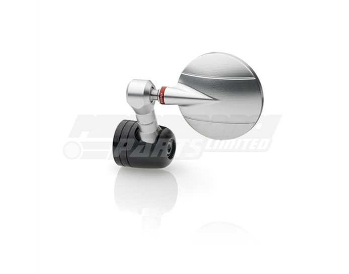 Rizoma Spy-R Mirror, Euro4  Silver, other colours available - Single mirror. Bolt-in bar-end mirror adaptor required.