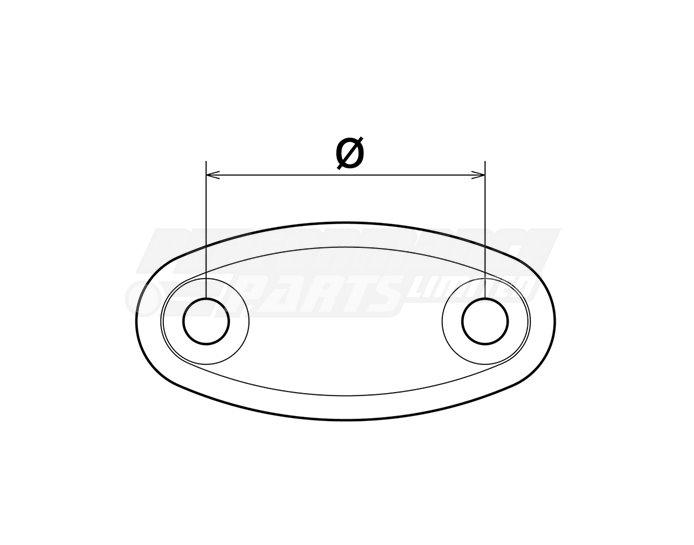Rizoma Universal Fairing Mirror Hole Cap - pair