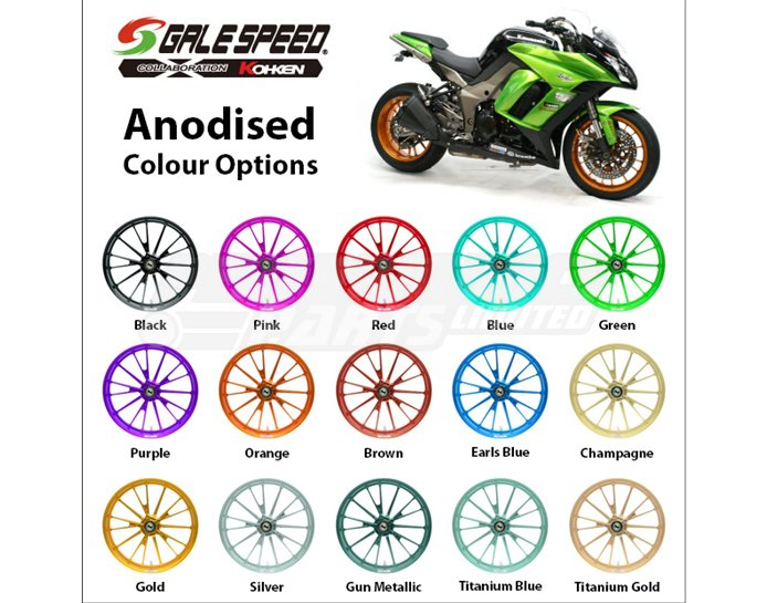 Galespeed Optional Anodised Colour - Priced Per Pair - (please see colour chart for available options)