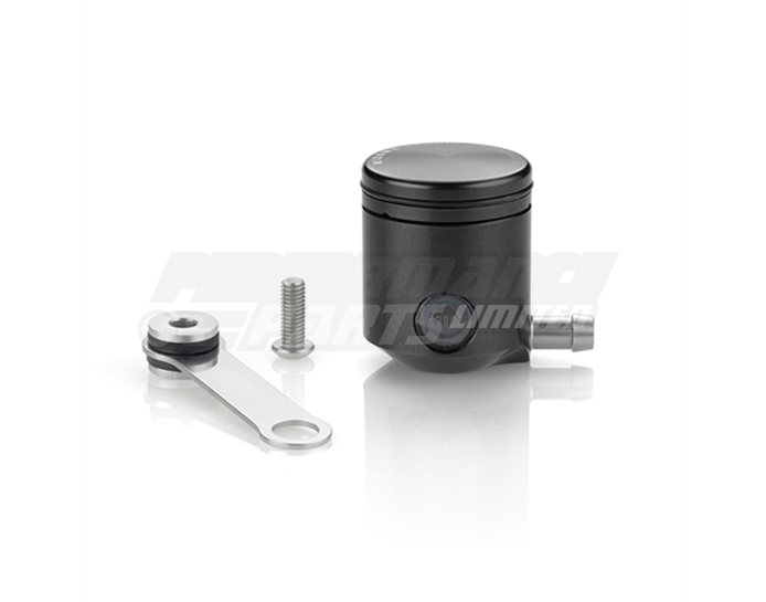 Rizoma Fluid Reservoir, Remote mounting, round cylinder, small window, side exit - 15cm3, clutch, bracket included