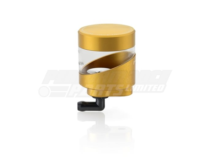 Rizoma Wave Fluid Reservoir, Remote mounting, round cylinder, asymetric window - 16cm3, clutch/rear brake