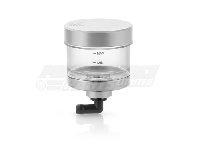 CT145A - Rizoma Pure Fluid Reservoir, Remote mounting, round cylinder, clear - 31cm3, clutch/rear brake