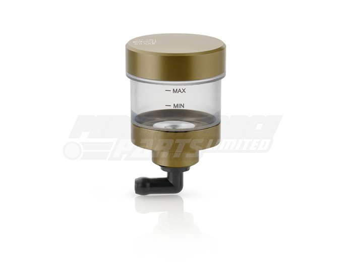 Rizoma Pure Fluid Reservoir, Remote mounting, round cylinder, clear - 16cm3, clutch/rear brake