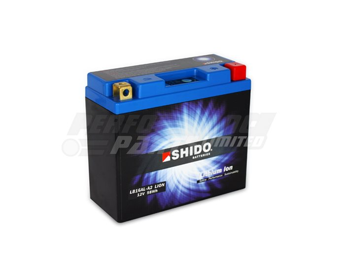 SHIDO Lightweight Lithium Ion Battery (Replaces YB16AL-A2) - High Output