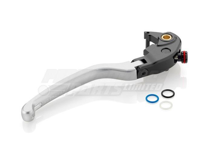Rizoma 3D Brake Lever with Remote Adjuster capability, Silver
