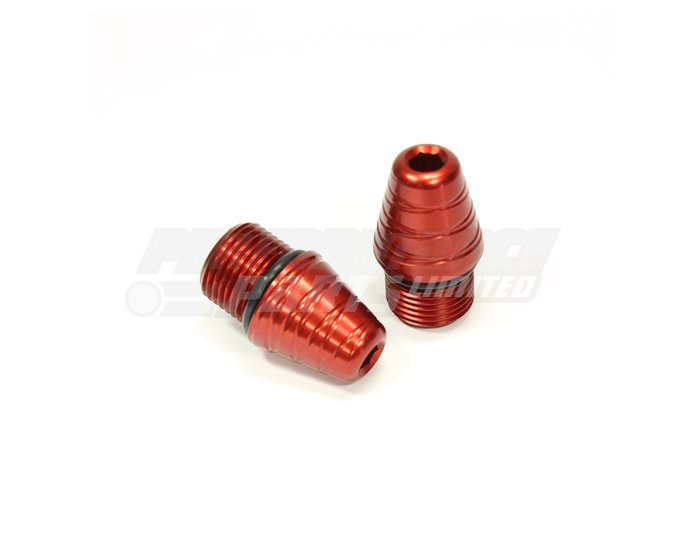 LG-0-R - Gilles Optional Alloy Bar End Weights (Threaded for use with Gilles GPL or Variobar Handlebars) - Red, other colours available.