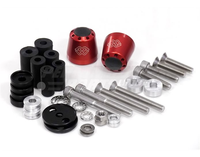 LG-CO-22-R - Gilles Bar End Weight - Tapered Design, Red (other colours available)