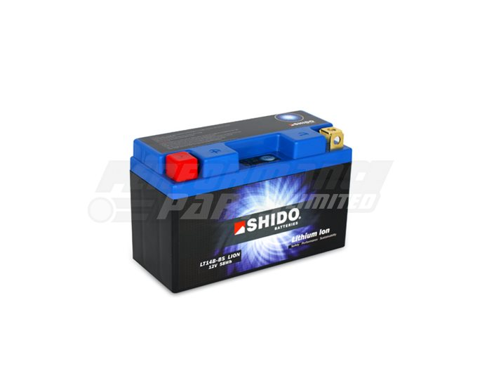 SHIDO Lightweight Lithium Ion Battery (Replaces YT14B-BS) - High Output