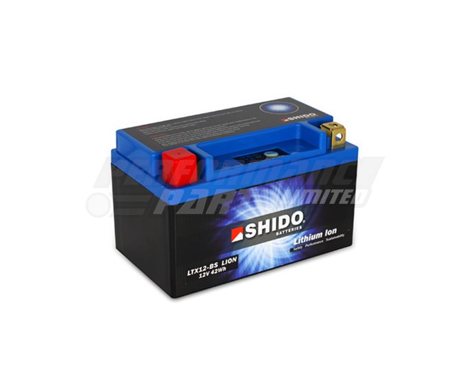SHIDO Lightweight Lithium Ion Battery (Replaces YTX12-BS)