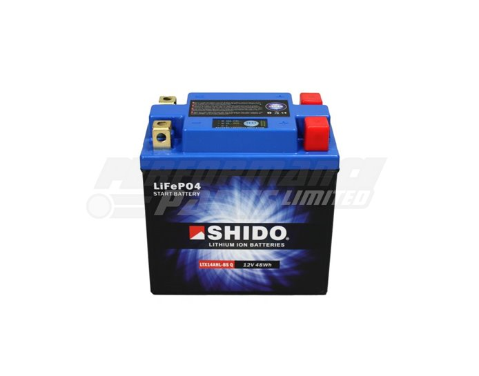 Shido Lightweight Lithium Battery Replaces YT14AHL-BS - High Output