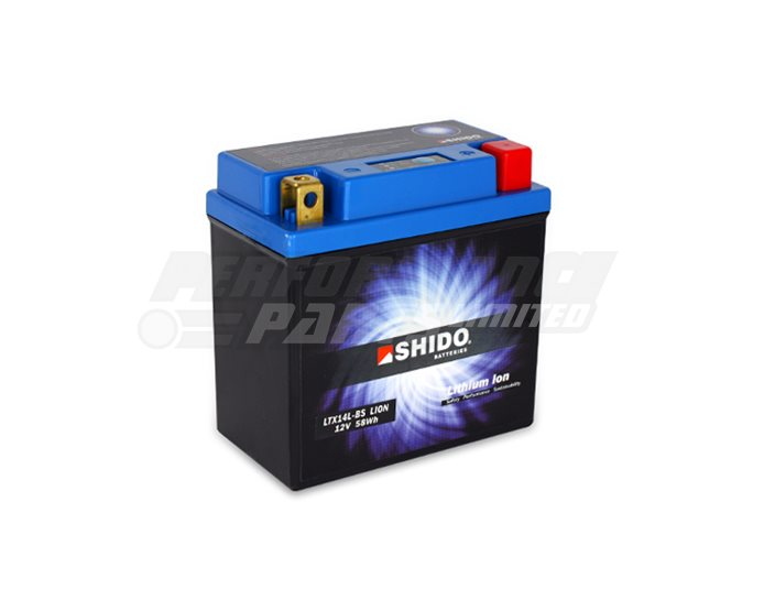 SHIDO Lightweight Lithium Ion Battery (Replaces YTX14L-BS)