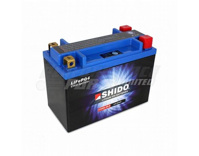Shido Lightweight Lithium Battery Replaces YTX20L-BS - High Output
