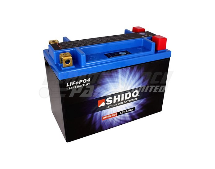 Shido Lightweight Lithium Battery Replaces YTX24HL-BS