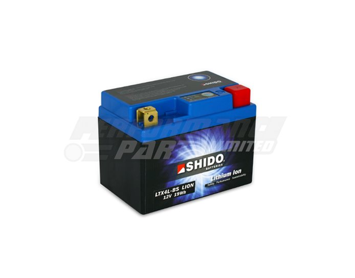 LTX4L-BS-LION - SHIDO Lightweight Lithium Ion Battery (Replaces YTX4L-BS)