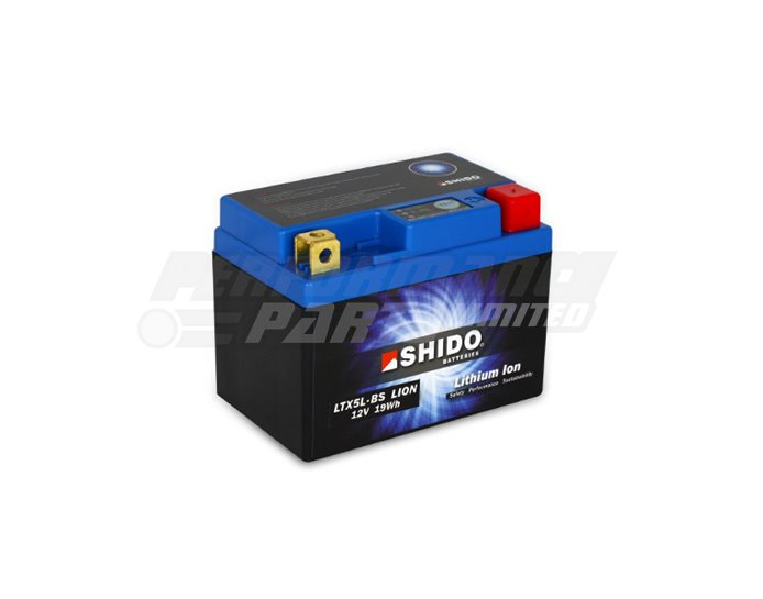 SHIDO Lightweight Lithium Ion Battery (Replaces YTX5L-BS)