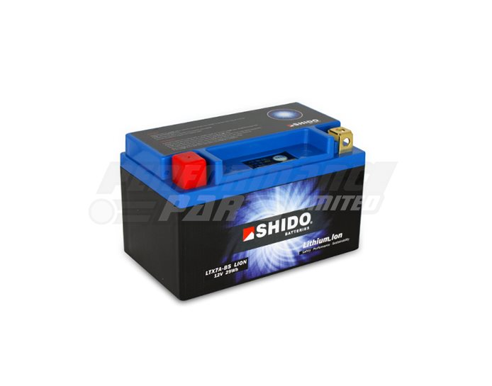 SHIDO Lightweight Lithium Ion Battery (Replaces YTX7A-BS)