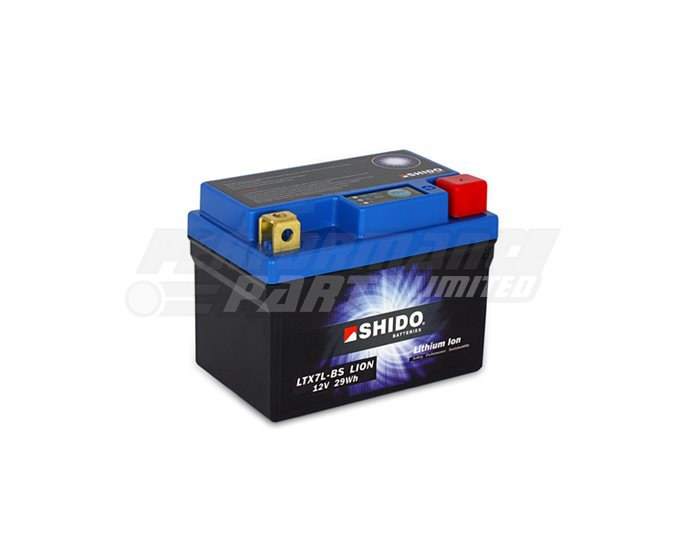 SHIDO Lightweight Lithium Ion Battery (Replaces YTX7L-BS)