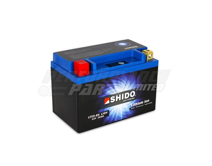 SHIDO Lightweight Lithium Ion Battery (Replaces YTX9-BS)