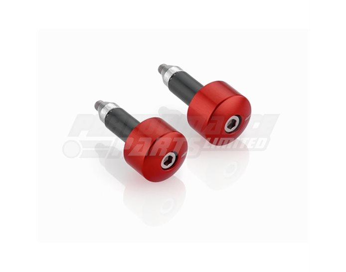Rizoma Bar Ends, Cylindrical, pair, Red, other colours available - fits 22.2mm and 28.6mm bars