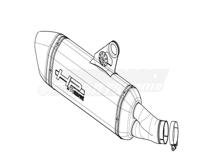 Akrapovic Repack Kit For BMW OEM Akrapovic Slip-On Kit With Etched Logo (S-B12SO10-HBOTB)