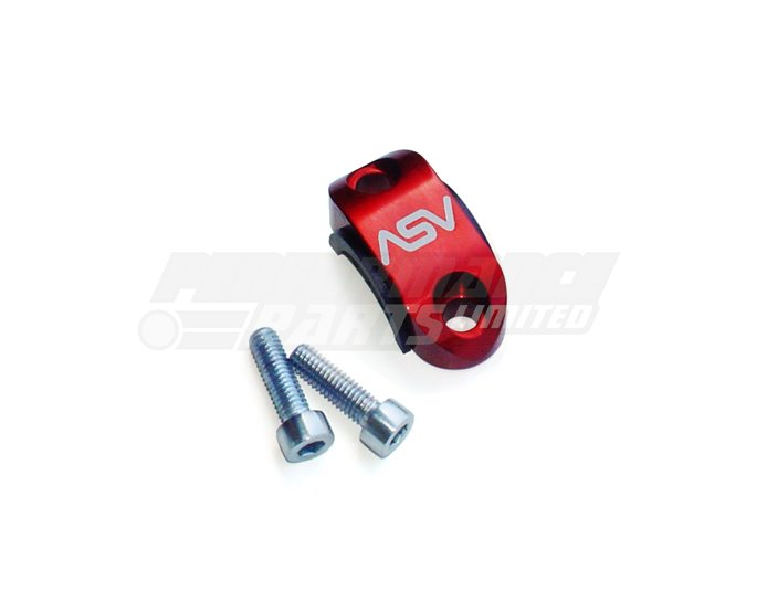 ASV Rotator Clamp For Brake or Clutch Master Cylinder Perch, Red (other colours available)