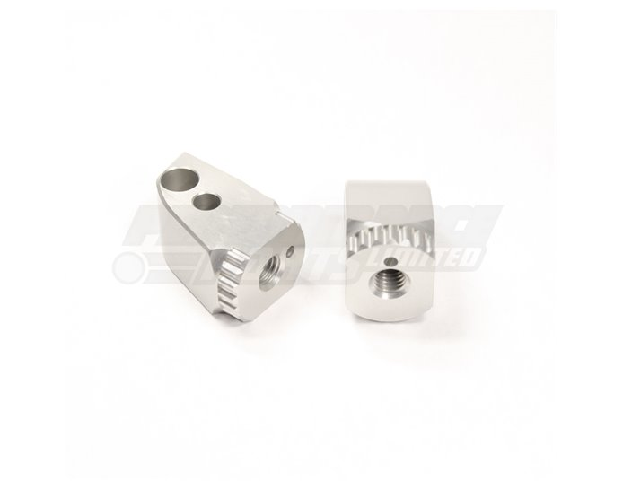 Gilles PILLION Folding Joints (Required for mounting Gilles footpegs) - Silver (Other Colours Available)