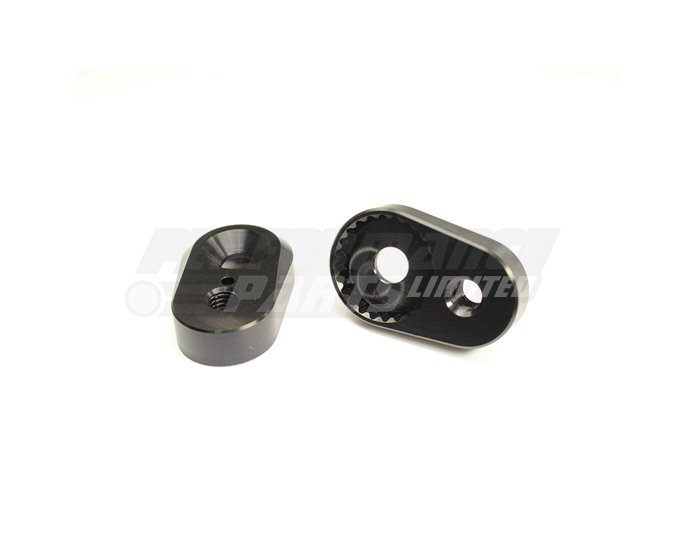 Gilles 20mm Adjustment Plates (for use with Gilles footpegs) - Black (Other Colours Available)