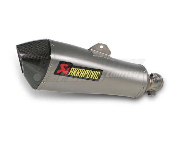 Akrapovic Titanium Silencer Slip-On Kit (To OE Collector) - Hexagonal - Road Legal Removable Baffle