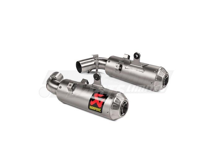Akrapovic Twin Titanium Silencer Slip-On Kit - Road Legal
