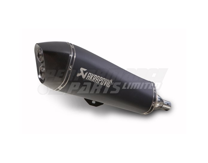 Akrapovic SP Titanium Slip-On Kit - Satin Black Silencer - Road Legal Removable Baffle