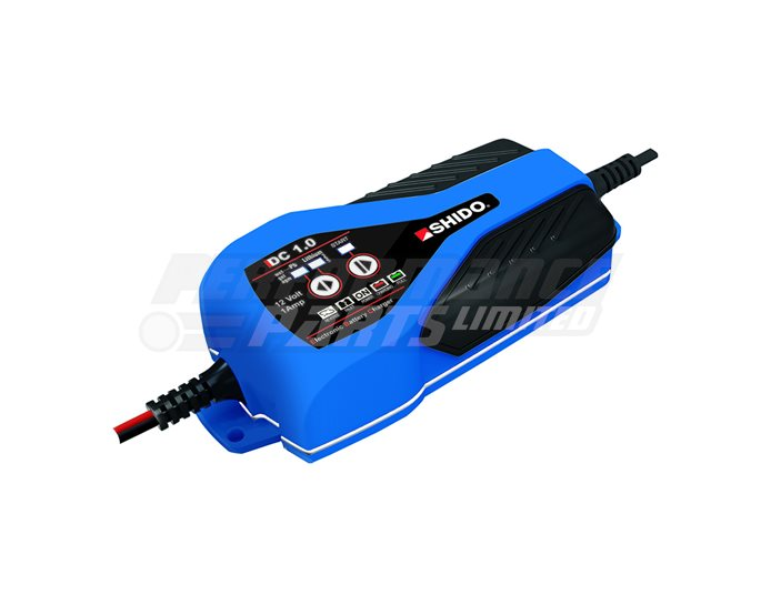 Shido DC1.0 1A Dual Battery Charger - (Suitable For 12V Lithium & Lead Acid Batteries)