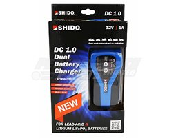 SHIDO-DC1.0-UK - Shido DC1.0 1A Dual Battery Charger - (Suitable For 12V Lithium & Lead Acid Batteries)