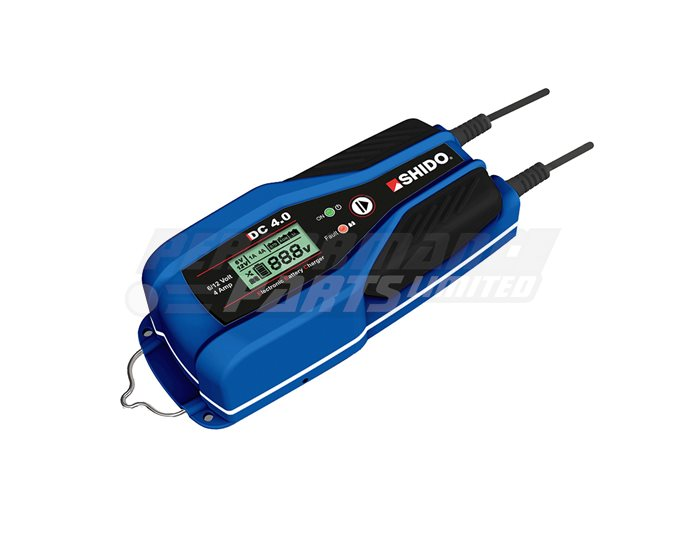 Shido DC4.0 4A Dual Battery Charger - (Suitable For 6V or 12V Lithium & Lead Acid Batteries)