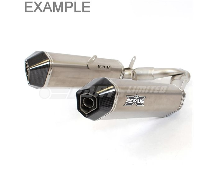 Remus Hexacone Slip On Kit Titanium silencer - Road Legal with Removable Baffle