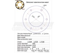 SS-CSTM - Supersprox Stealth Bespoke Sprocket, Anodised Alloy - Express delivery, made to order, custom build