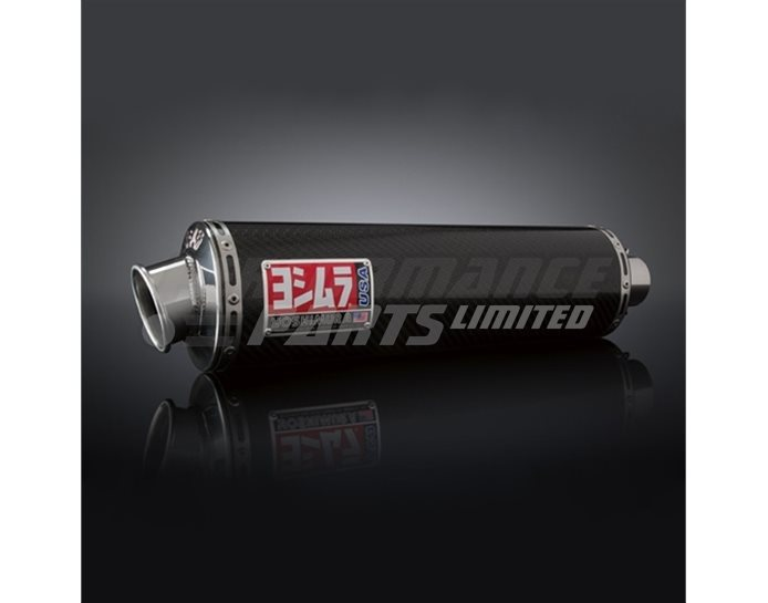 Yoshimura Carbon RS-3 Oval Bolt-Ons (Pair) - Race (removable Baffle)