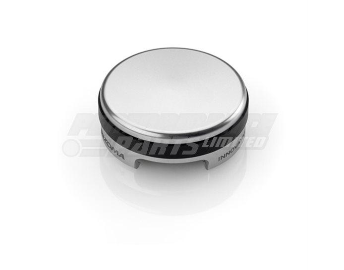 Rizoma Rear Brake fluid cap, flat, Silver - 42 mm, thread M37x4 mm